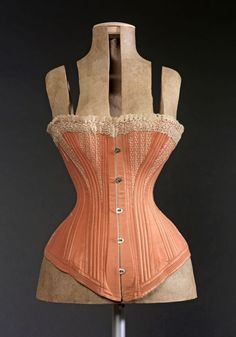 Corset, 1870-1880.  I'd have to sew a few together to make one to fit...
