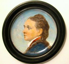 Fine Antique Hand-Painted Portrait Plate by littleminxantiques
