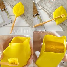 Environmental Silicon Gel Leaf Shaped Drinking Cup Portable Cup for Outdoor - USD $ 1.99