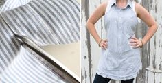 Refashion your shirt. Make an apron for your lady!