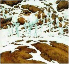How many horses do you see?  Bev Doolittle Art