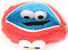 red Sesame Street Elmo reversible plush pencil case Muppet