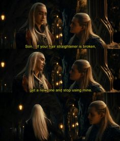 Legolas, Thranduil, The Hobbit Legolas And Thranduil, Aragorn, Gandalf, Legolas Mother, Legolas Hot, Thranduil Funny, The Middle, Middle Earth, Orlando Bloom Legolas