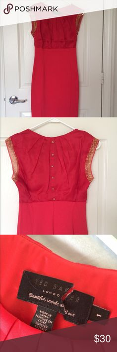 """Ted Baker dress NWOT Waist area 13"""" length 38"""" bottom is bodycon style. Says UK 1 but US 4. Never worn but tag cut to prevent return. Ted Baker Dresses"""