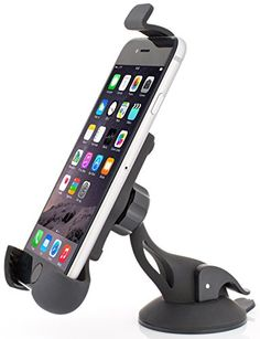 2-in-1 Car Phone Holder by Geabox - Windshield Mount plus Air Vent Holder - Cardle - One Hand Operation - Smartphone Mount - Universal Fit - iPhone 6 Holder - Samsung Galaxy - Note 2 - HTC or GPS - Highest Quality - Warranty Included Geabox http://www.amazon.com/dp/B00YD23UJE/ref=cm_sw_r_pi_dp_MYOUvb06FD8EH