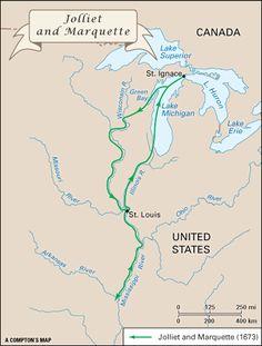 marquette joliet map of north america - Google Search kids.britannica.com