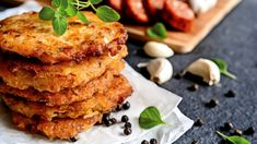 Learn how to make and prepare the recipe for Kremidotiganites, otherwise known as Greek onion pancakes. Lunch Recipes, Breakfast Recipes, Cooking Recipes, Vegetable Dishes, Vegetable Recipes, Greek Side Dishes, Greek Vegetables, Veggies, Greek Dinners