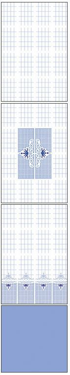 Millennium Tiles 200x300mm (8x12) Luster Concept Design Ceramic Wall Tiles - 270 - 269 - 268 - Alpine Blue