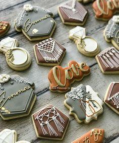 Love creating something that speaks to the style/inspiration of the guest of honor. #bohobride #bohobridalshower #macrame #bohocookies Boho Bride, Blessings, Macrame, Bridal Shower, Blessed, Lisa, Style Inspiration, Cookies, Baking