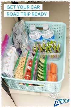 Get your car road trip ready let these tips from ziploc® make road trips a little more bearable. make your own car trash cans, great road trip snacks, and Road Trip With Kids, Family Road Trips, Travel With Kids, Family Travel, Travel Snacks Kids, Family Vacations, Beach Trip, Vacation Trips, Cruise Vacation