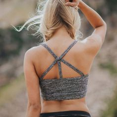 With criss cross straps to peek through your favorite tank, and a longer fit up front to stay in place, this Exhale Bra in our popular Pace-Setter fabric is sure to become your newest go-to support to