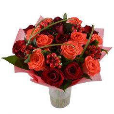 Срезанные Цветы, Коралловые Розы, Красные Розы, Букет Для Невесты, Красный Апельсин, Годовщина Свадьбы, Цветочные Композиции