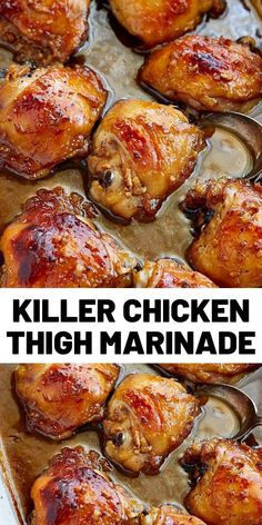 This killer chicken thigh marinade will blow your mind. It's the best! Easy to make with a few simple ingredients, and make a dish with intense flavors. # Food and Drink chicken thighs Killer Chicken Thigh Marinade Chicken Thights Recipes, Easy Chicken Recipes, Turkey Recipes, Meat Recipes, Cooking Recipes, Healthy Recipes, Recipies, Chicken Thigh Marinade, Chipotle