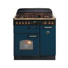 Rangemaster 74010 Classic 90cm in Blue & Brass. Call 01302 638805 for prices.