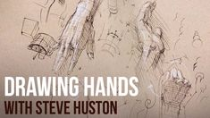 Steve Huston shows how to break up the hands into basic interlocking forms and how to use cross hatching to get a 3D effect - proko.com/198