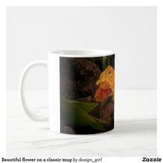 Beautiful flower on a classic mug