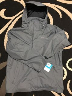 Columbia Mens Eager Air 3-in-1 Interchange Jacket Graphite Gray L #Columbia #2in1interchange