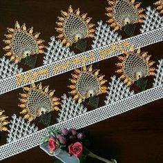İğne oyası havlu kenar Needle Lace, Lace Making, Needlework, Knitting Patterns, Diy And Crafts, How To Make, Crochet Ideas, Tricot, Embroidery
