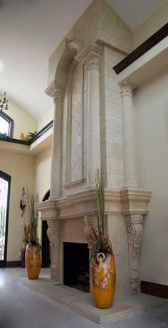 Most recent Free of Charge cast Stone Fireplace Popular Grand Tradition Custom Overmantel Fireplaces Fireplace Mantel Surrounds, Stone Fireplace Mantel, Brick Fireplace Makeover, Fireplace Design, Stone Fireplaces, Mantle, Fireplace Gallery, Mosaic Stepping Stones, Vinyl Flooring