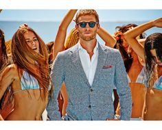 Cultural Hegemony: Get Hegemonic Masculinity, Objectify Women, and Have White Privilege With SuitSupply Suits Suit Supply, Classic Suit, Street Style Blog, Summer Wear, Men Summer, Casual Summer, Mens Style Guide, Fashion Articles, Summer Accessories