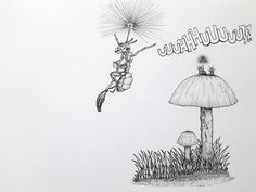 Formiga, ant, ink drawing, drawing