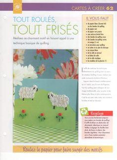 Mouton en quilling - tuto (partie 1)