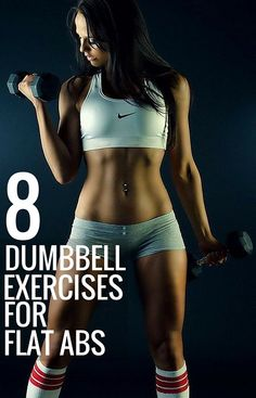 8 dumbbell exercises for flat abs