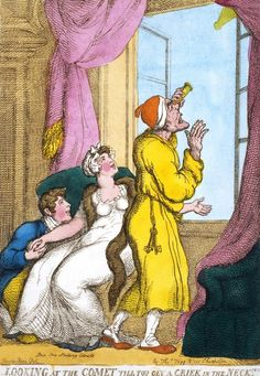 Looking at the comet till you get a criek in the neck! by Thomas Rowlandson (19th century) © Victoria and Albert Museum / V Prints