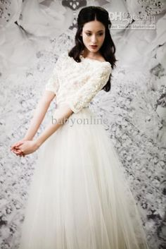 Wholesale 2013 Babyonline Cheap Sexy New Ivory White Lace Wedding Dresses Long Sleeves Winter Wedding Gown, Free shipping, $134.4-145.6/Piece | DHgate