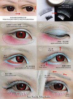 Cosplay eyes make up tutorial by mollyeberwein
