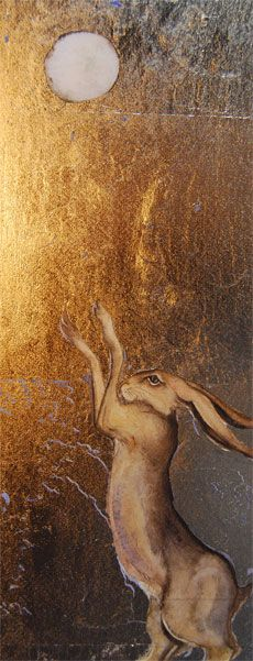 hare praising the full moon. - Jackie Morris
