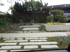 Eichler home in Orange.  Lots of CEment.