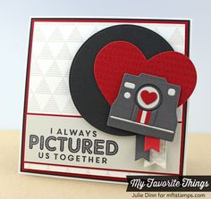 card camera MFT cute cameras MFT die-namics #mftstamps  I always Pictured Us Together - heart love