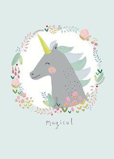 Aless Baylis ansichtkaart magical eenhoorn