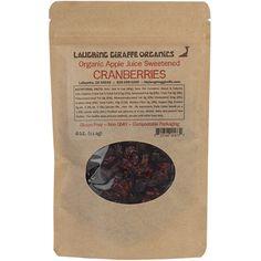 Organic Apple Juice Sweetened Craberries