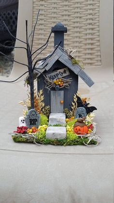 fairy house halloween , fairy house, haunted fairy house, fairy garden house, fairy garden accessories
