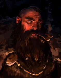 He was convicted for killing two noble Dwarves, but fleed from Vog Doral. Dwarves are immune to lycanthropy, so he stays in the Valley. Fantasy Dwarf, Fantasy Rpg, Medieval Fantasy, Fantasy Races, High Fantasy, Fantasy Warrior, Fantasy Portraits, Character Portraits, Fantasy Artwork