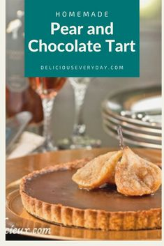 This French-inspired Pear and Chocolate Ganache Tart is topped with flavorful slow roasted pears. Bread Appetizers, Appetizer Recipes, Dessert Recipes, Chocolate Ganache Tart, Vegan Fast Food, Roasted Pear, Dairy Free Recipes, Vegan Recipes, Holiday Desserts