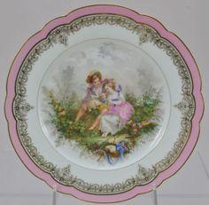 """Sevres Chateau de St. Cloud Hand Painted Porcelain """"Turner"""" Cabinet Plate 1846"""