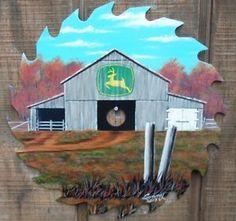 Hand Painted Saw Blade John Deere Sign 1 | eBay