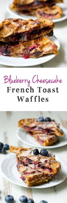 Cinnamon raisin bread is packed with cheesecake spread, jam, and berries for the perfect breakfast! You will love these Blueberry Cheesecake Stuffed French Toast Waffles What's For Breakfast, Perfect Breakfast, Breakfast Dishes, Breakfast Recipes, French Toast Waffles, Pancakes And Waffles, Stuffed French Toast, Pancakes Easy, Waffle Maker Recipes