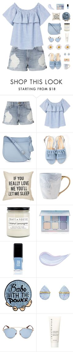 """Baby blue"" by tsaniaardhani on Polyvore featuring Frame, MANGO, Kate Spade, Bionda Castana, Craft + Foster, Anastasia Beverly Hills, JINsoon, Melissa Joy Manning, Christian Dior and Chantecaille"