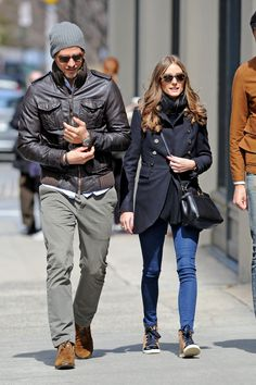 Olivia Palermo and Johannes Huebl in New York.
