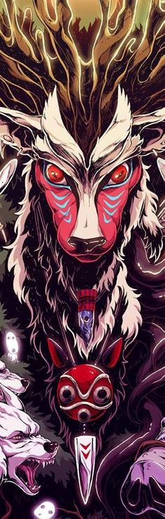 Princess Mononoke anime movie from Studio Ghibli Anime Naruto, Manga Anime, Film Anime, Otaku Anime, Totoro, Studio Ghibli Art, Studio Ghibli Movies, Studio Ghibli Tattoo, Hayao Miyazaki