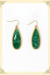 Envy Teardrop Earrings in Green. Gold isn't generally my style, but I love these!