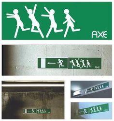 Axe street/ambient marketing     via Picasa : La Pubothèque  Facebook : La Pubothèque  Twitter : @ValentinHochet