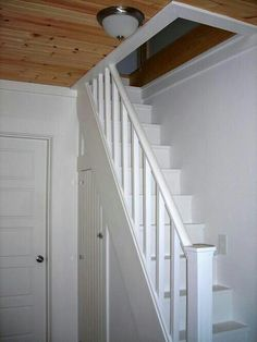 Steep stairs for small spaces