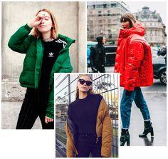 Puffy jackets são indispensáveis para as mais fashionistas.