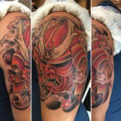 Samurai tattoo mask