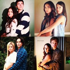 Pretty Little Liar couples-Ahh the couples! It's really hard to choose my fav but if I had to it'd be either Aria and Ezra or Hanna and Caleb :)